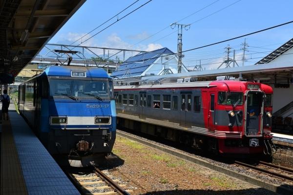 2019年8月4日 しなの鉄道北しなの線 黒姫 EH200-17/115系S6編成