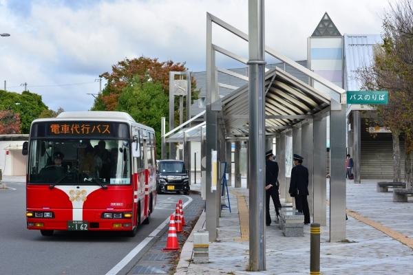 2019年10月20日 上田電鉄別所線 上田 列車代行バス