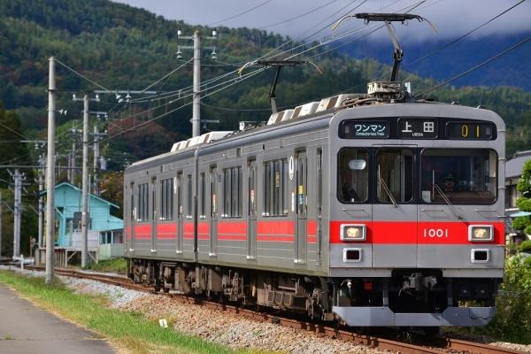 2019年10月20日 上田電鉄別所線 八木沢~舞田 1000系1001編成