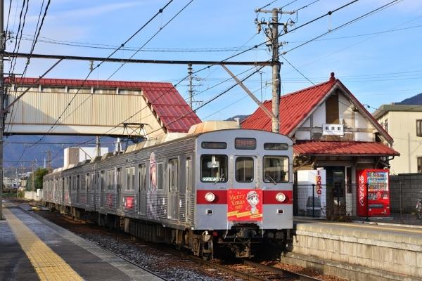 2019年12月13日 長野電鉄長野線 桐原 8500系T2編成