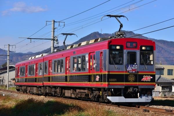 2019年12月14日 上田電鉄別所線 赤坂上~三好町 6000系6001編成