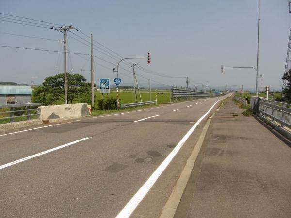 国道275号 北竜町・沼田町境