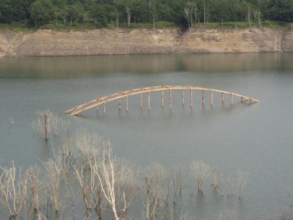 シューパロ湖・旧白銀橋