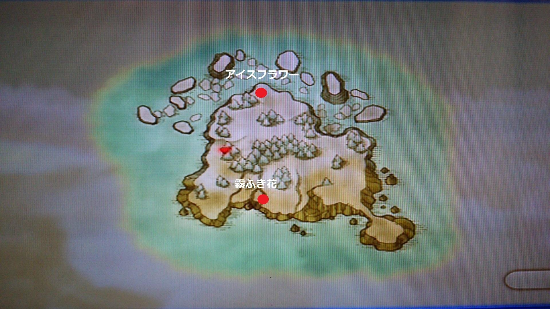 コハル島素材採取MAP