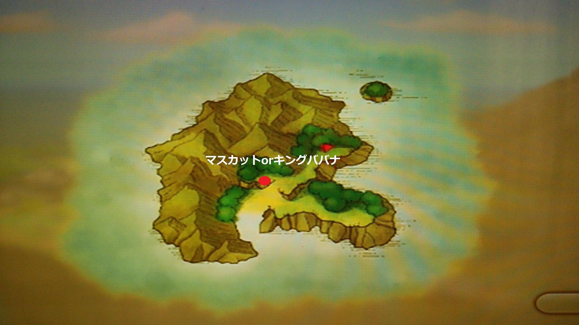 サンゴン島素材採取MAP
