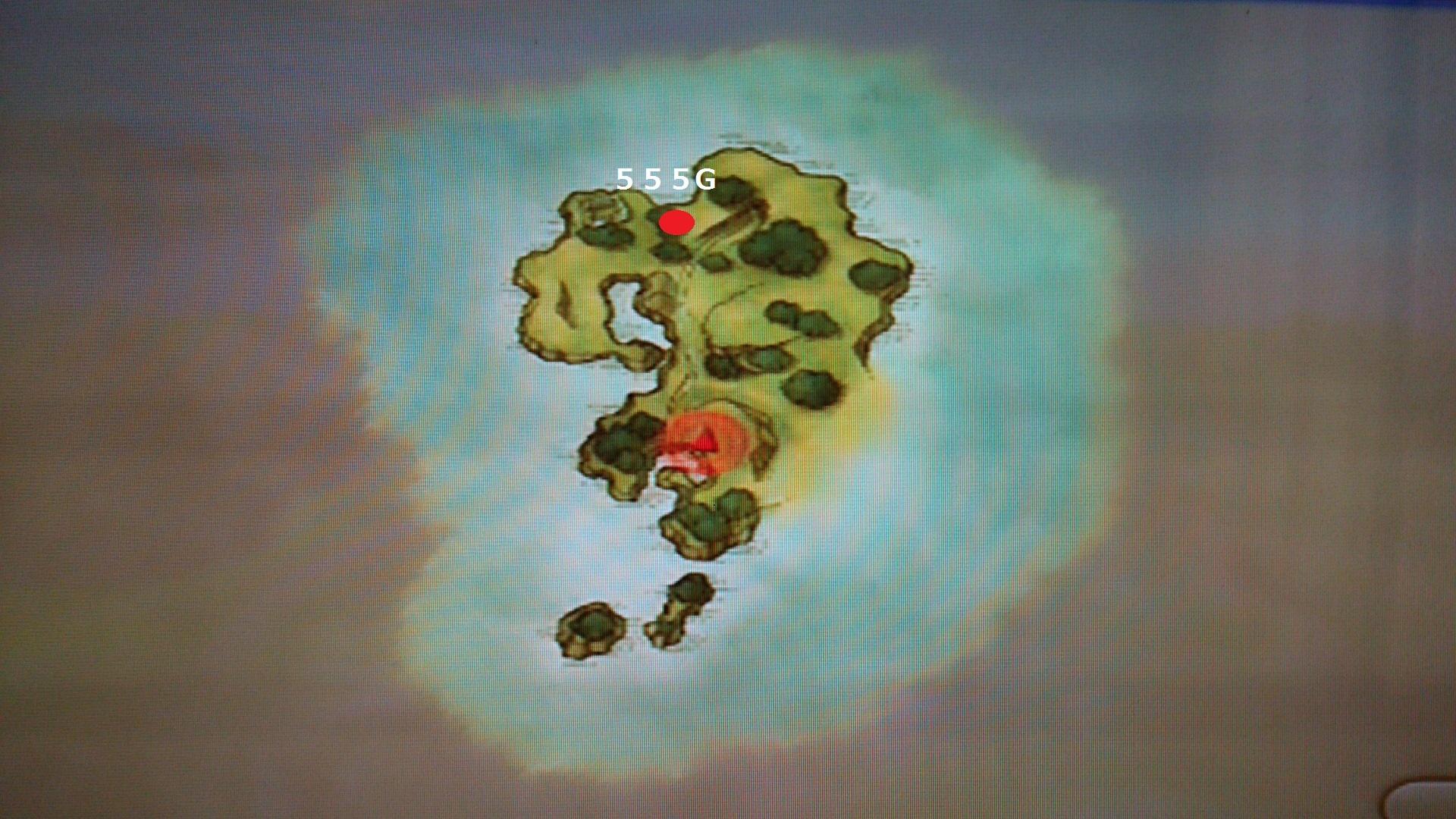 ナンショー島素材採取MAP