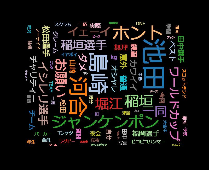 櫻井・有吉THE夜会【ラグビー日本代表6名大集結!メンバー同士の