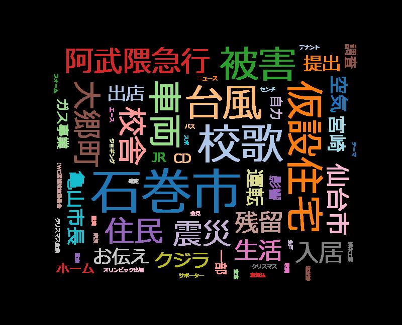 てれまさむね 大郷町で仮設住宅に引っ越す家族・石巻中心部にスーパー出店