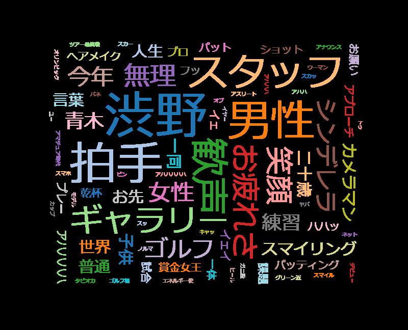 情熱大陸【渋野日向子/女子ゴルフ界に現れたスマイリングシンデレラ