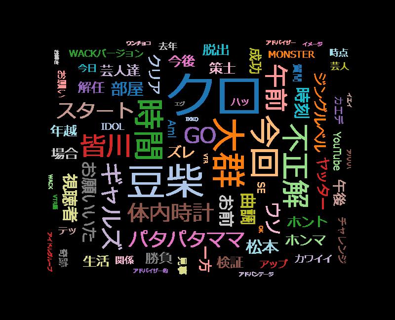 水曜日のダウンタウン 「豆柴の大群」新曲発表&クロちゃん解任