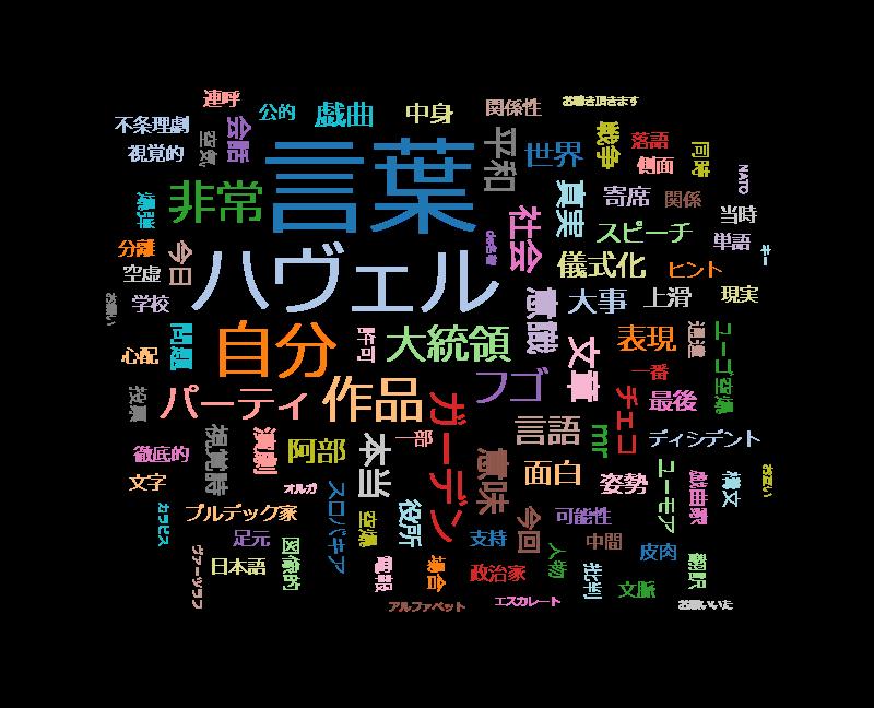 """100分de名著 ハヴェル""""力なき者たちの力""""(4)「言葉"""