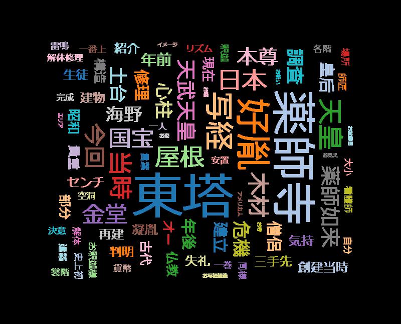 歴史秘話ヒストリア「薬師寺 千三百年の祈り 国宝東塔 全面解体」