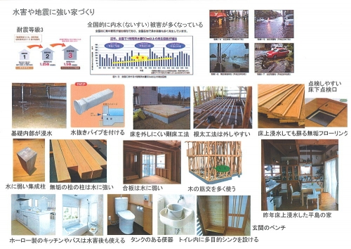 水害や地震に強い家づくり