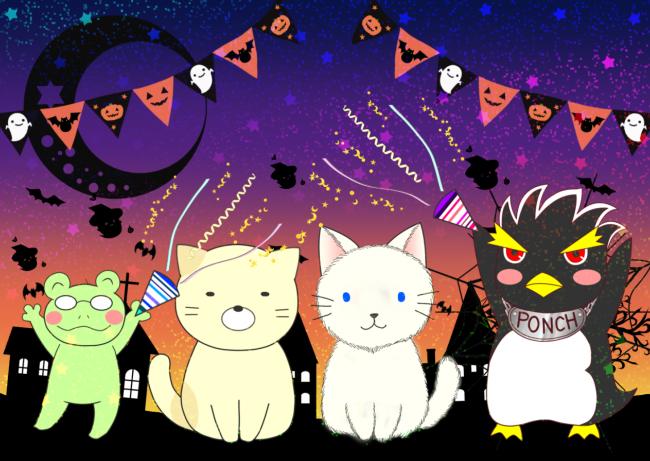 ポンちゃんのハロウィン(ゆる猫)ホログラム