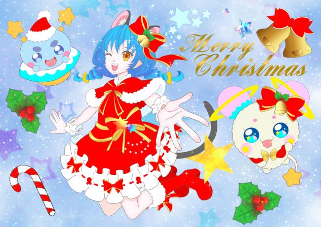 クリスマスのユニ(ホログラム)