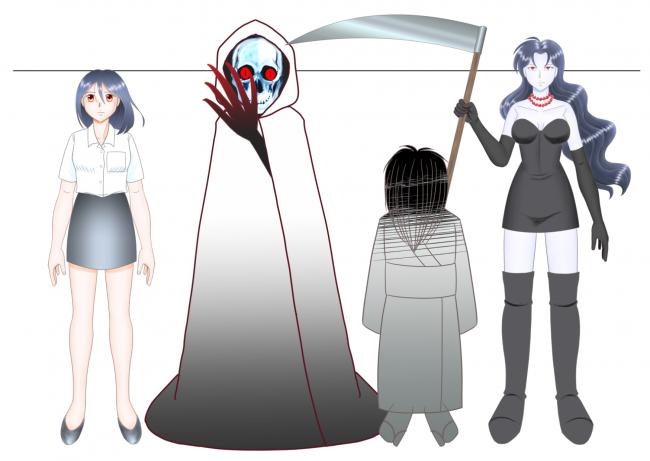 キャラクター対比(クロトと恵子)