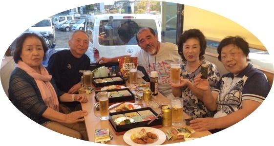 19 夕食・ビールで5人