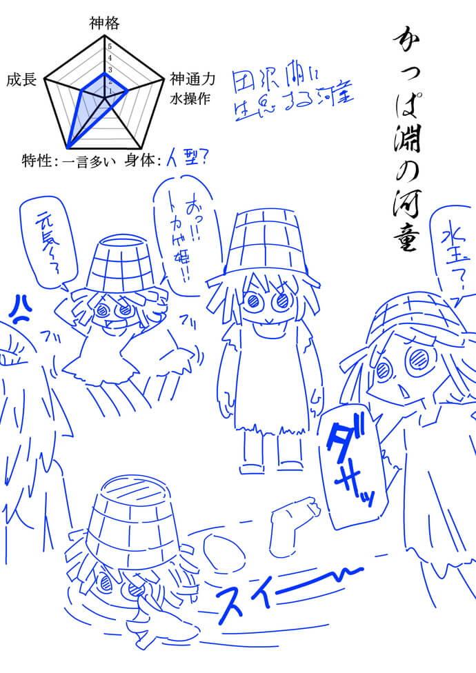 106話より、作家へアピールと田沢湖のカッパと吉祥姫。 サムネイル画像