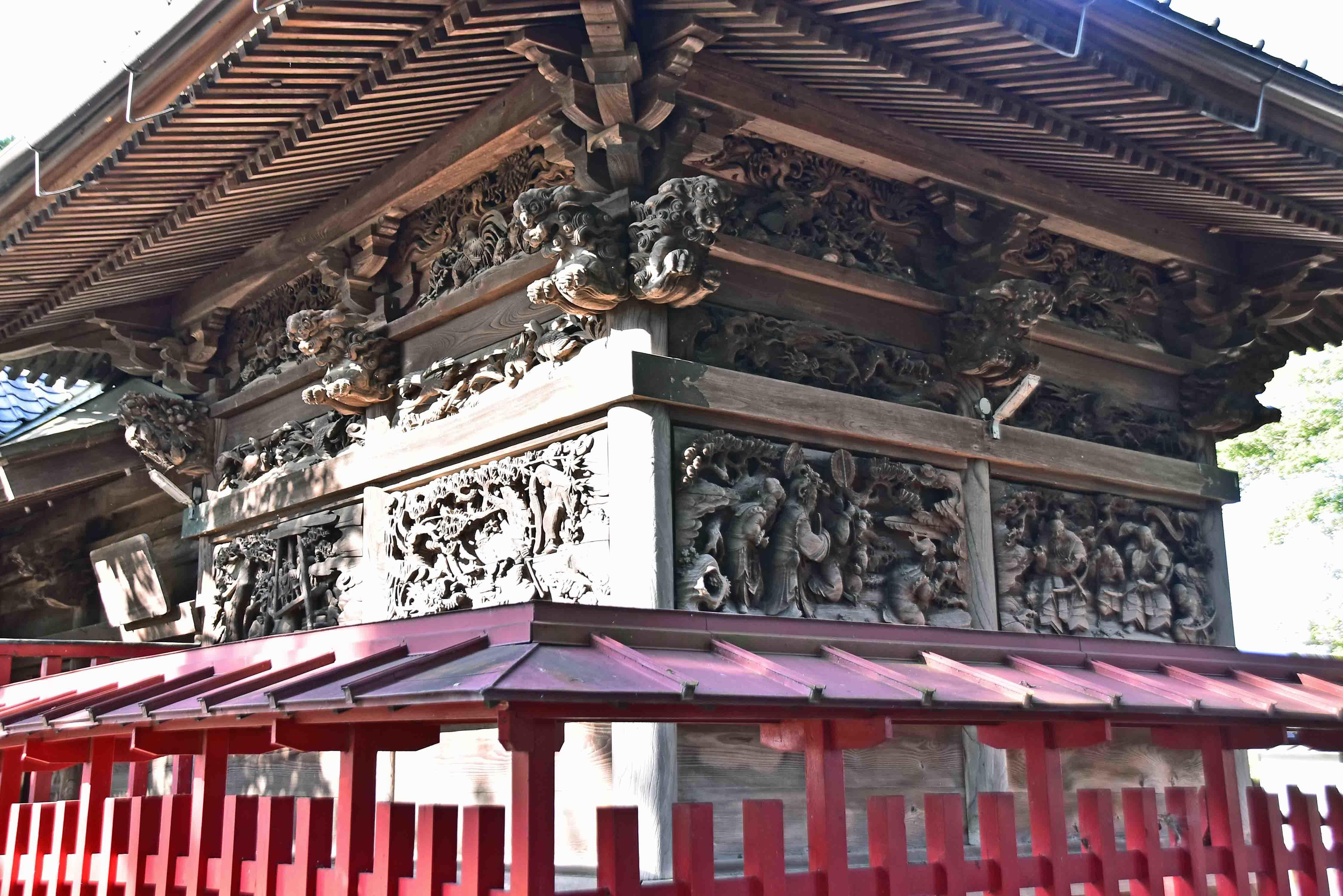 須影八幡神社の彫刻1