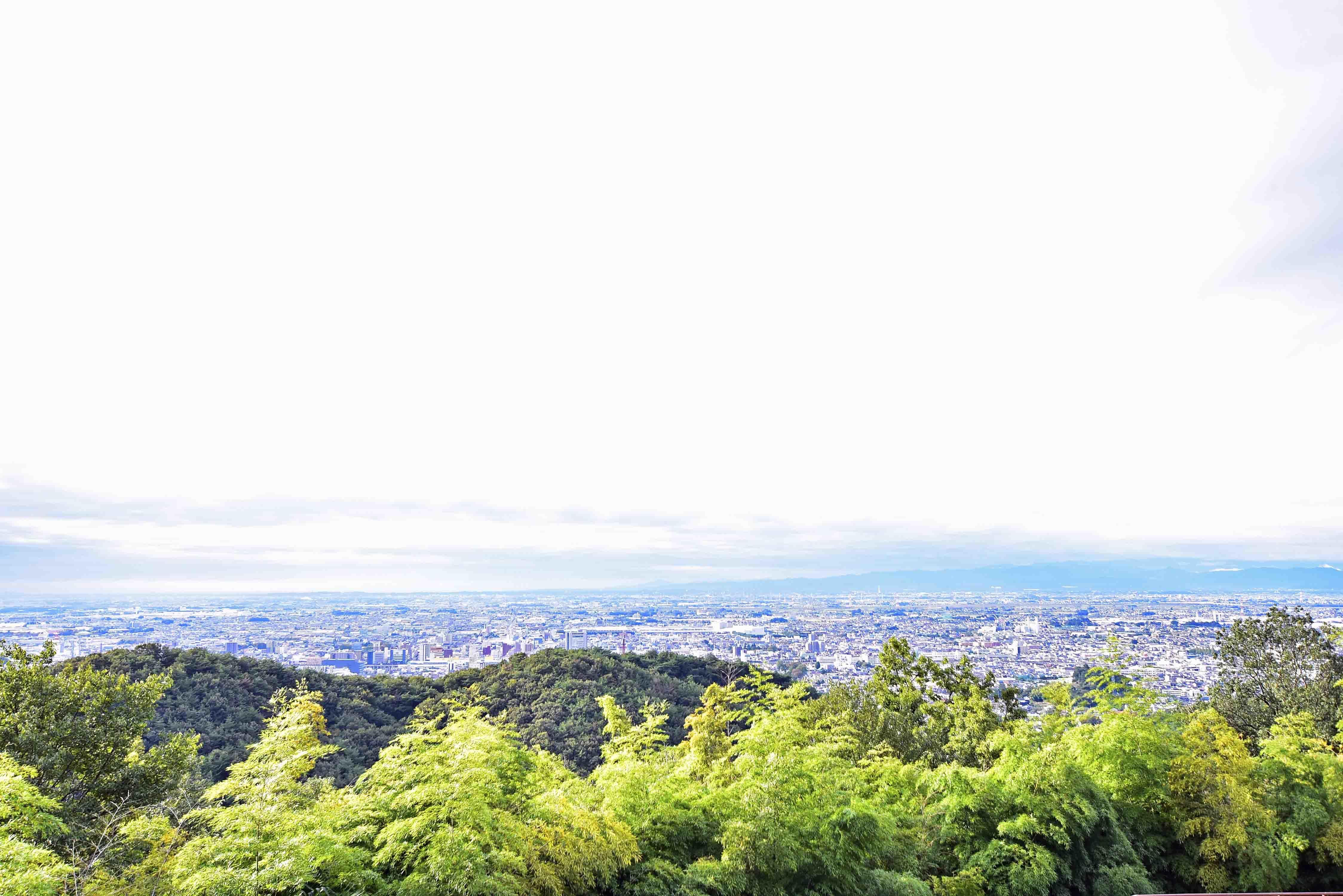 南城からの太田の街並み