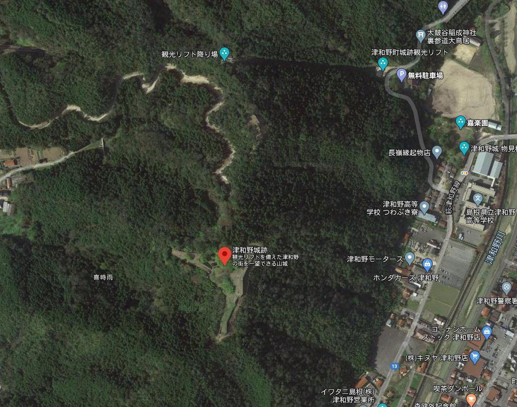 津和野城 Google