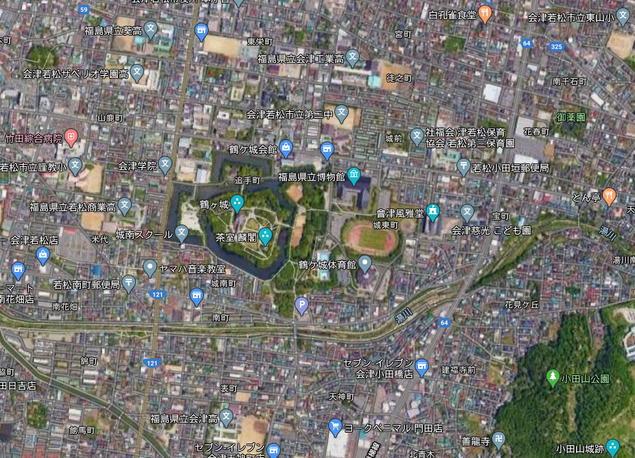 Google会津若松城