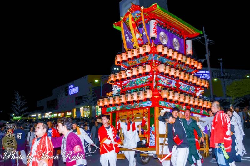 西条地区前夜祭 新地屋台(だんじり)