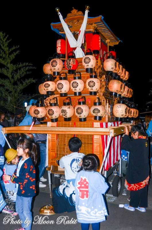 西条地区前夜祭 新堀上組子供屋台(だんじり)