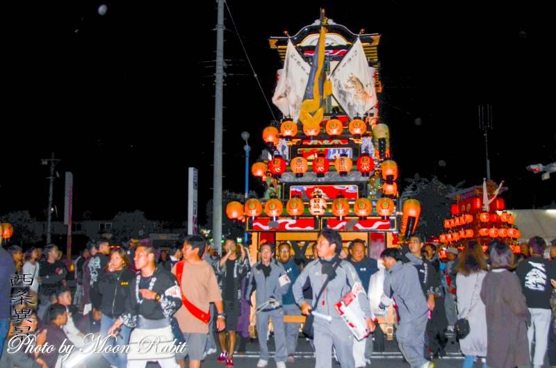 西条地区前夜祭 松之巷屋台(だんじり)