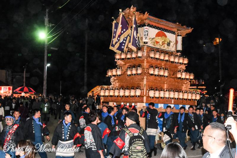 明神木だんじり(屋台) お旅所2018