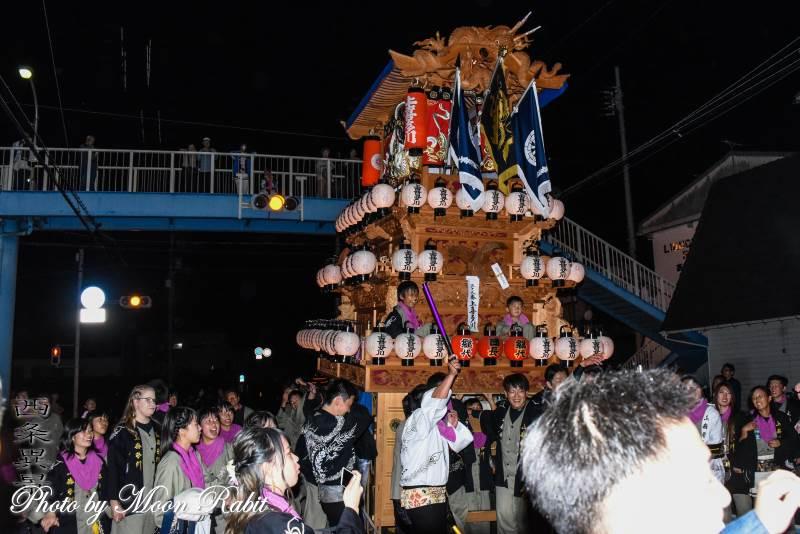 上喜多川だんじり(屋台) 神拝後夜祭