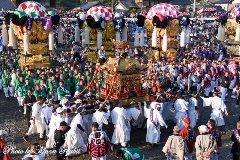 飯積神社神輿 宮入り 飯積神社祭礼2018 愛媛県西条市下島山