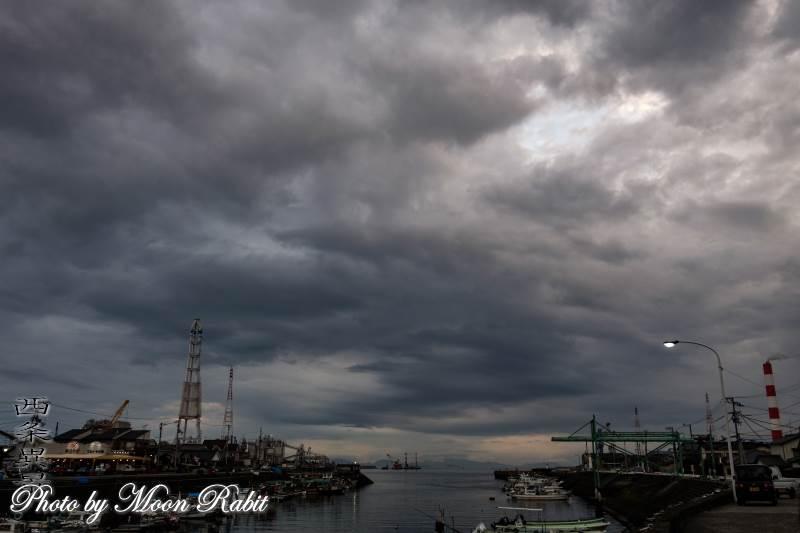 漁港の雲 西条漁港 愛媛県西条市北浜北