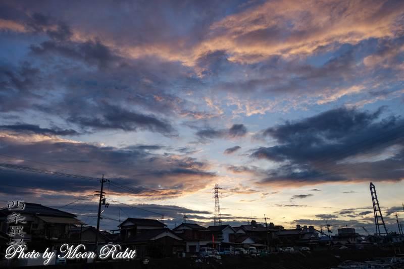 西条漁港の雲 愛媛県西条市北浜南