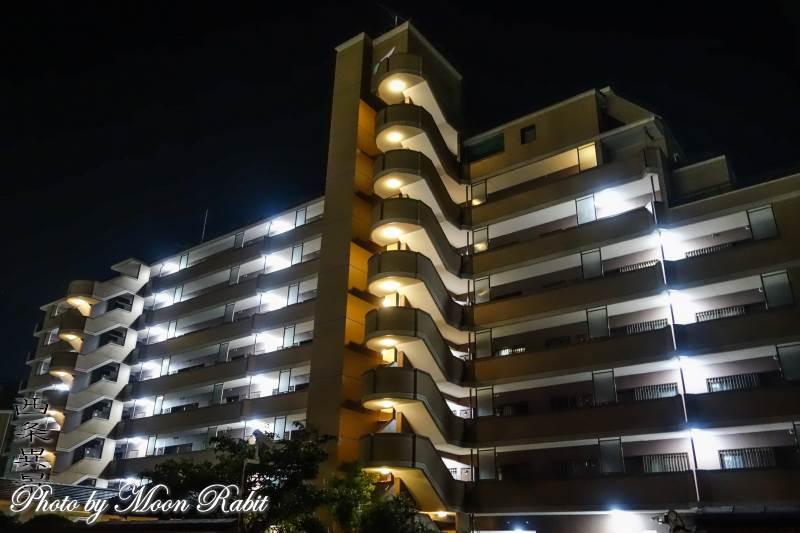 グランドール西条の夜景 愛媛県西条市西新町