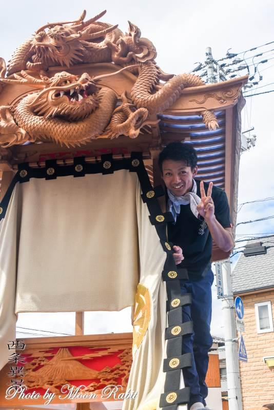 岸陰だんじり(屋台) 組み立て 伊曽乃神社祭礼 西条祭り 愛媛県西条市