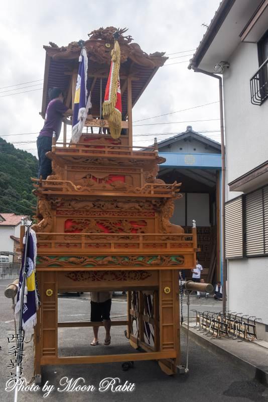 西之川原だんじり(屋台) 組み立て 伊曽乃神社祭礼 西条祭り 愛媛県西条市