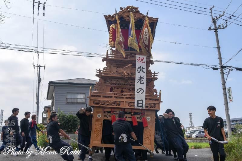 敬老慰問運行 地蔵原だんじり(屋台)