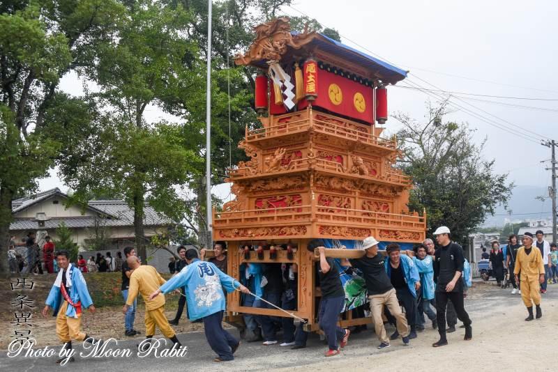 尾土居だんじり(屋台) 山道屋台30周年記念運行 桜木神社祭