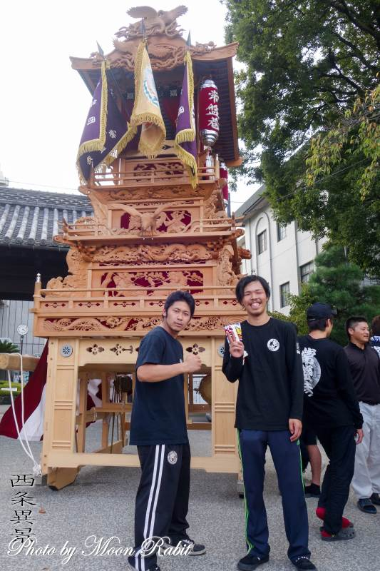 常盤巷だんじり(屋台) 御殿前 伊曽乃神社祭礼 西条祭り 愛媛県西条市
