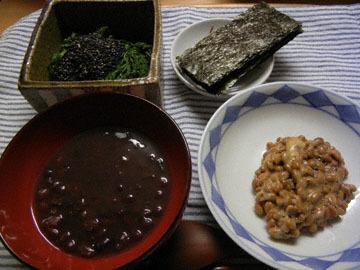 blog CP1 Dinner, Oshiruko, Shungiku Goma-ae, Natto, Nori_DSCN7520-1.1.18.jpg