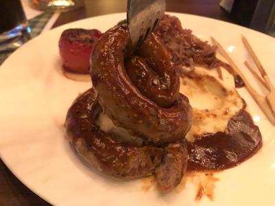 Grilled Curly Pork Sausage