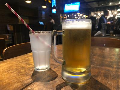 Budweiser Draught 16oz & Fresh Lime Soda