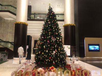 JW Marriottのクリスマスツリー