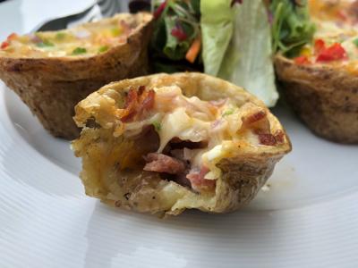 Crunchy Potato Skin With Bacon