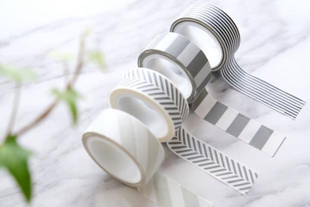 IKEA・FULLFÖLJA フルフォーリャ テープ, グレー ブラック, ホワイト①