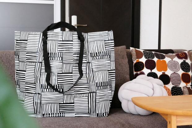 IKEA・FISSLA フィスラ キャリーバッグ M, ホワイト, ブラック①