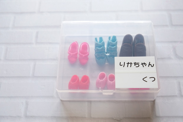 セリア・白綿棒 スクエアケース・リカちゃん小物①