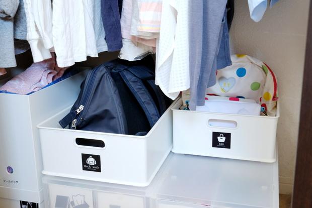 子供部屋・身支度スペースバッグ収納①