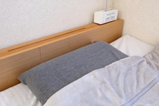 プレミアムマイクロファイバー毛布【gran】グラン・無印・綿フランネルまくらカバー/杢グレー 43×63cm用・寝室①